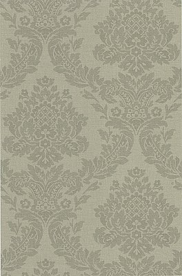 Rice Grey Meridian Damask Wallpaper