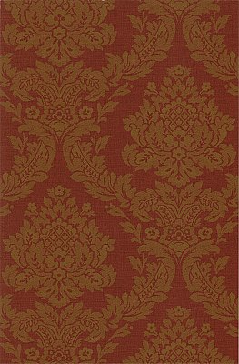 Rice Rust Meridian Damask Wallpaper