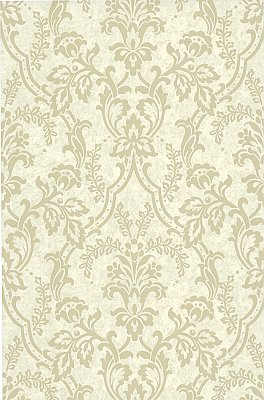 Andrea Cream Ornate Ogee Wallpaper