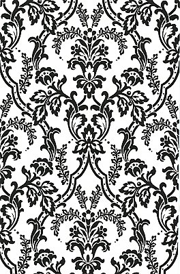 Andrea Black Ornate Ogee Wallpaper