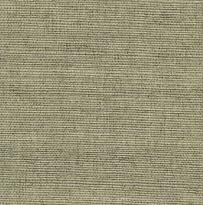 Aubrey Grey Grasscloth Wallpaper