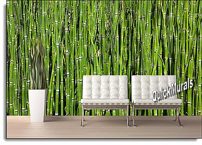 Bamboo Backround Peel and Stick Wall Mural roomsetting