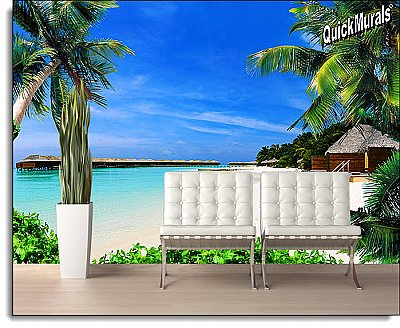 Beach Resort Peel and Stick Wall Mural