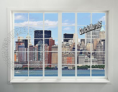 NYC Skyline Window #1 Peel and Stick Canvas Wall Mural