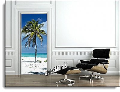 Palm Tree 1-piece Peel & Stick Door Mural