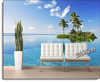 Paradise Island Peel and Stick Wall Mural roomsetting