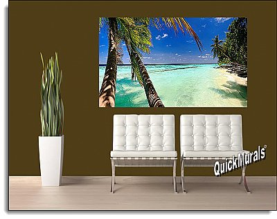 Tahiti Wall Mural Roomsetting