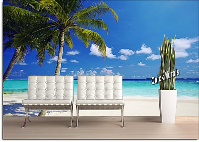 Tropical Ocean Peel and Stick Wall Mural