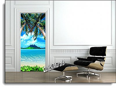 Tropical 1-piece Peel & Stick Door Mural