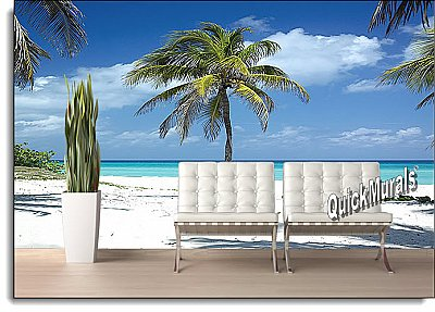 Twisted Palm Peel & Stick Canvas Wall Mural roomsetting