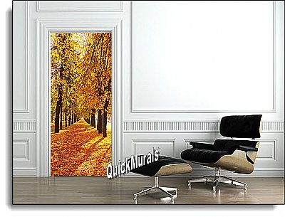 Wooded Path Peel & Stick 1-piece Door/Wall Mural