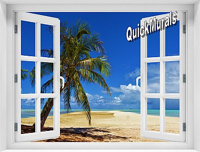 African Beach Window Mural