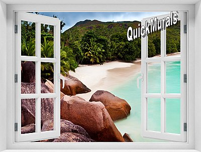 Barbados Island Window Mural
