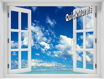Clouds Window Mural