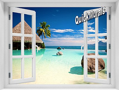 Turtle Island Fiji Window Mural