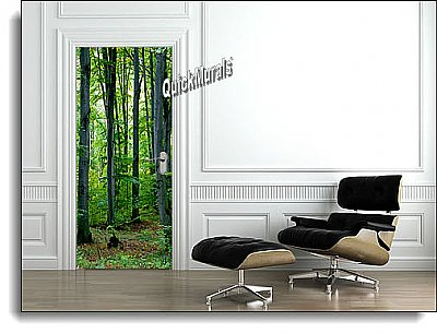 Majestic Forest Door Mural roomsetting
