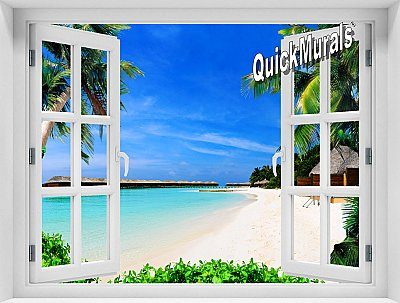 Mauai Beach Window Mural