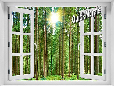 Morning Forest Window Mural
