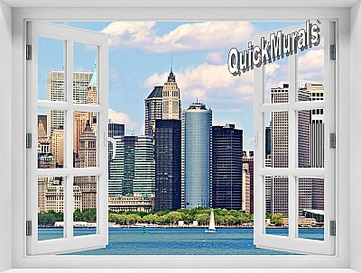 New York City (Color) #2 Window Mural