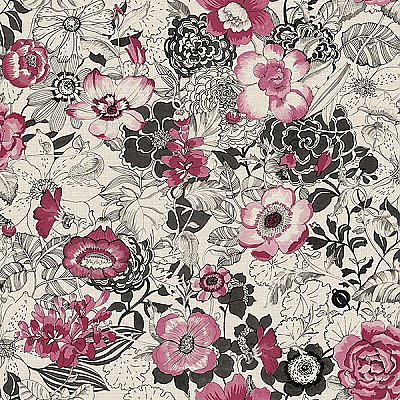 Penny Pink Floral Wallpaper