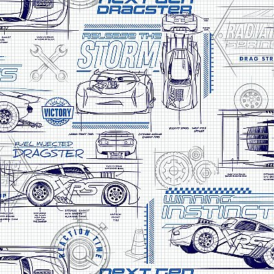 Disney and Pixar Cars Schematic Wallpaper