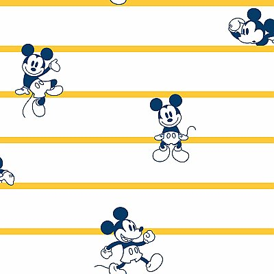 Disney Mickey Mouse Stripe Wallpaper