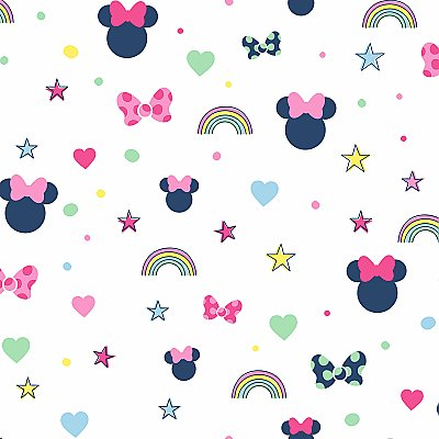 Disney Minnie Mouse Rainbow Wallpaper