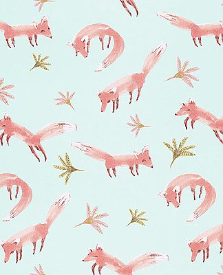 Hilma Coral Fox Wallpaper