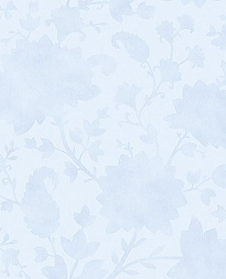 Avens Light Blue Floral Wallpaper