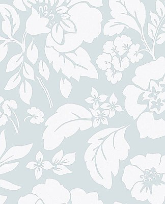 Avens Mint Floral Wallpaper