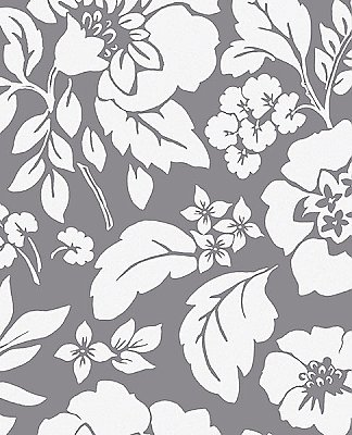 Avens Grey Floral Wallpaper