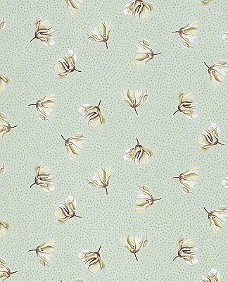 Mullein Green Floral Wallpaper