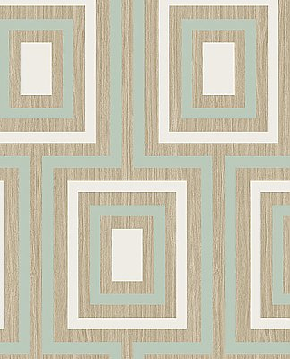 Loke Light Green Wood Geometric Wallpaper