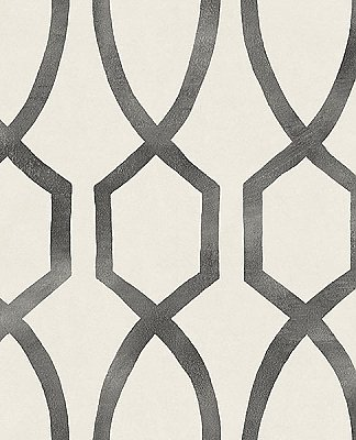 Stina Charcoal Trellis Wallpaper