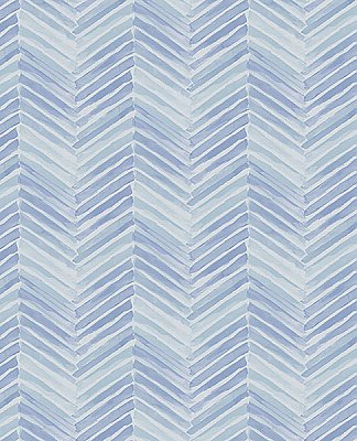 Tilde Blue Chevron Wallpaper