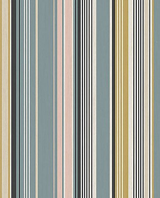 Svea Multicolor Stripe Wallpaper