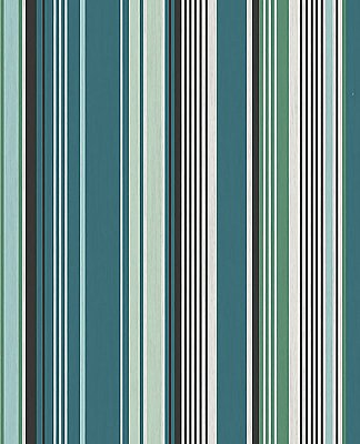 Svea Teal Stripe Wallpaper