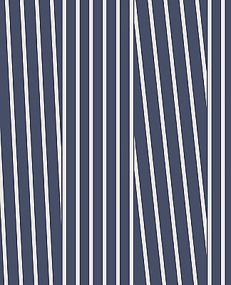 Maryam Navy Modern Stripe Wallpaper