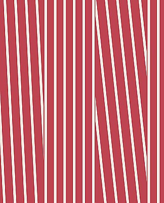 Maryam Red Modern Stripe Wallpaper