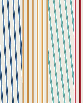 Maryam Multicolor Modern Stripe Wallpaper