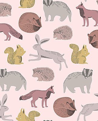 Mickel Multicolor Animals Wallpaper