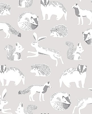 Mickel Neutral Animals Wallpaper