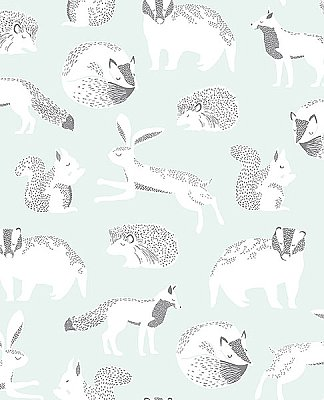 Mickel Off-White Animals Wallpaper