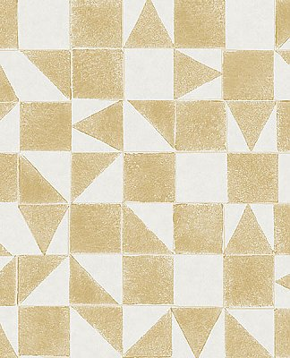 Robyn Wheat Geometric Wallpaper