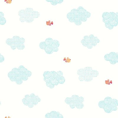 Noah'S Aqua Clouds Wallpaper