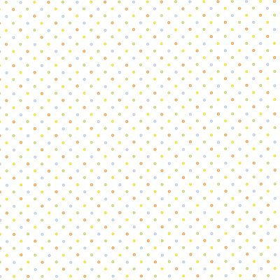 Lilli Orange Happy Dots Wallpaper