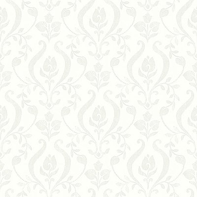 Eloise Ivory Damask Wallpaper