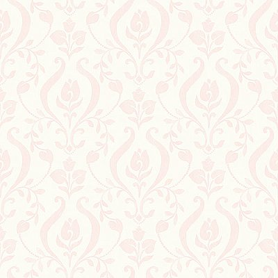 Eloise Light Pink Damask Wallpaper