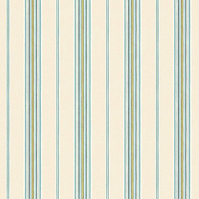 Kylie Aqua Cabin Stripe Wallpaper
