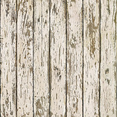 Grendel White Faux Weathered Wood Wallpaper Wallpaper